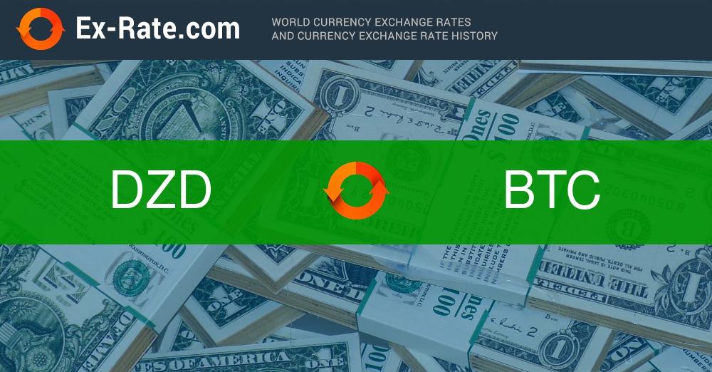 1 Bitcoin a DZD , Tasso di cambio di valuta di Bitcoin e Dinar